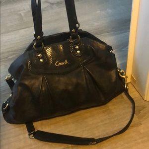 Black coach purse large